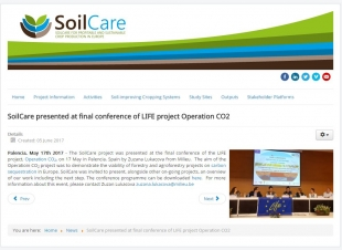 Soilcare project publishes about our Final Conference