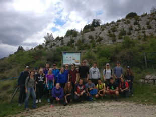 Visit of the plantations in Alinyà by international students